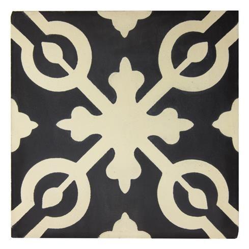 Alys Encaustic Tile – Black-Beige | Heritage Building Centre