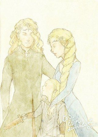 Mirkwood Royal Family. Oropher his wife and little Thranduil