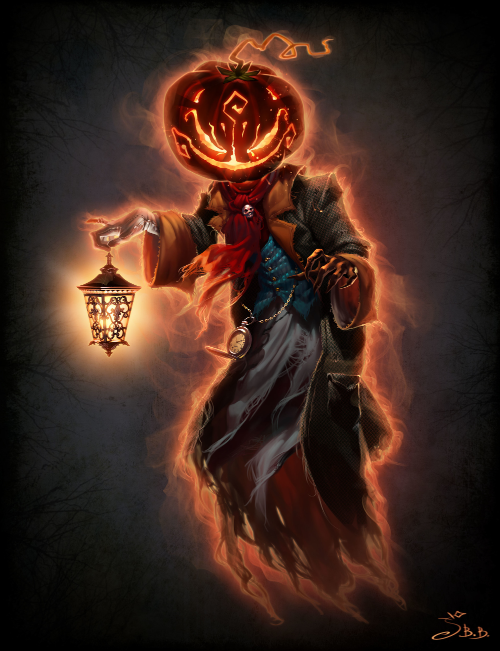 ArtStation Halloween Pumpkin Guy, Vera Velichko