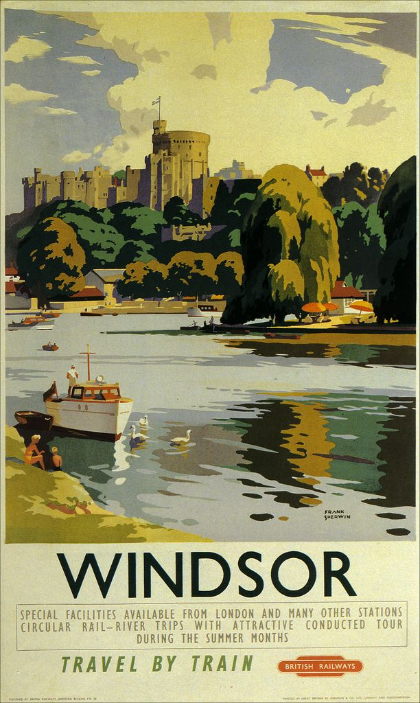 Windsor Vintage Travel Posters Travel Posters Train Posters