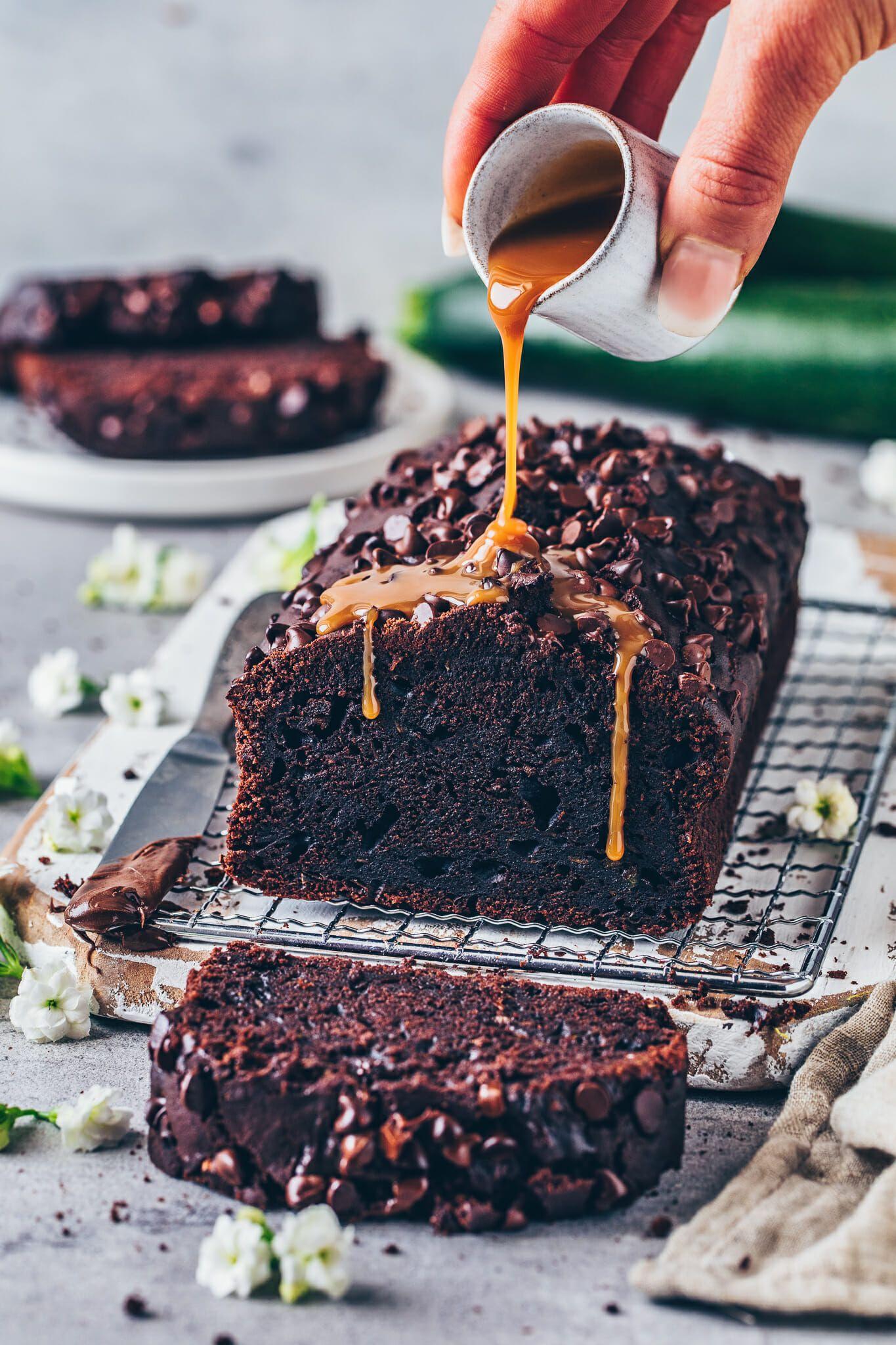Veganer Zucchini-Schokokuchen #chocolatecake