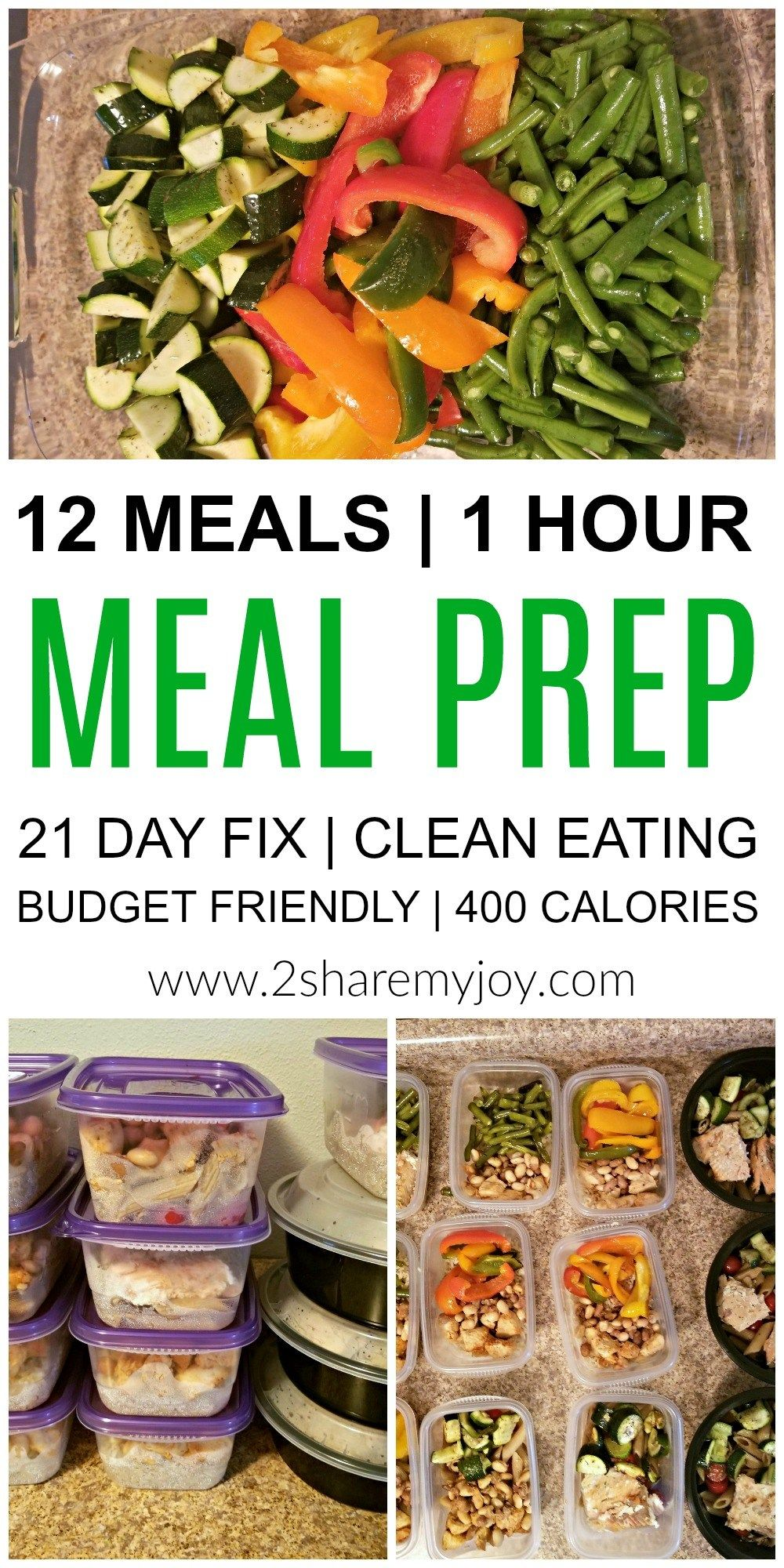 Meal Prep: 12 Healthy Lunches in 1 Hour #400caloriemeals