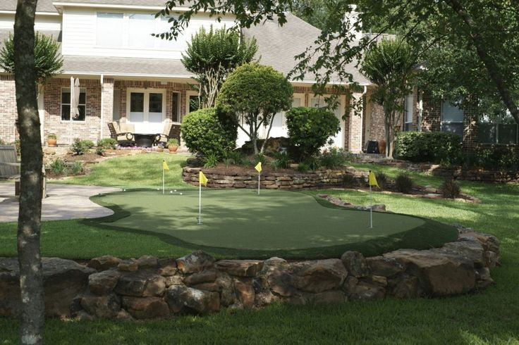 Create mini Golf Course in your Backyard Love this idea ...