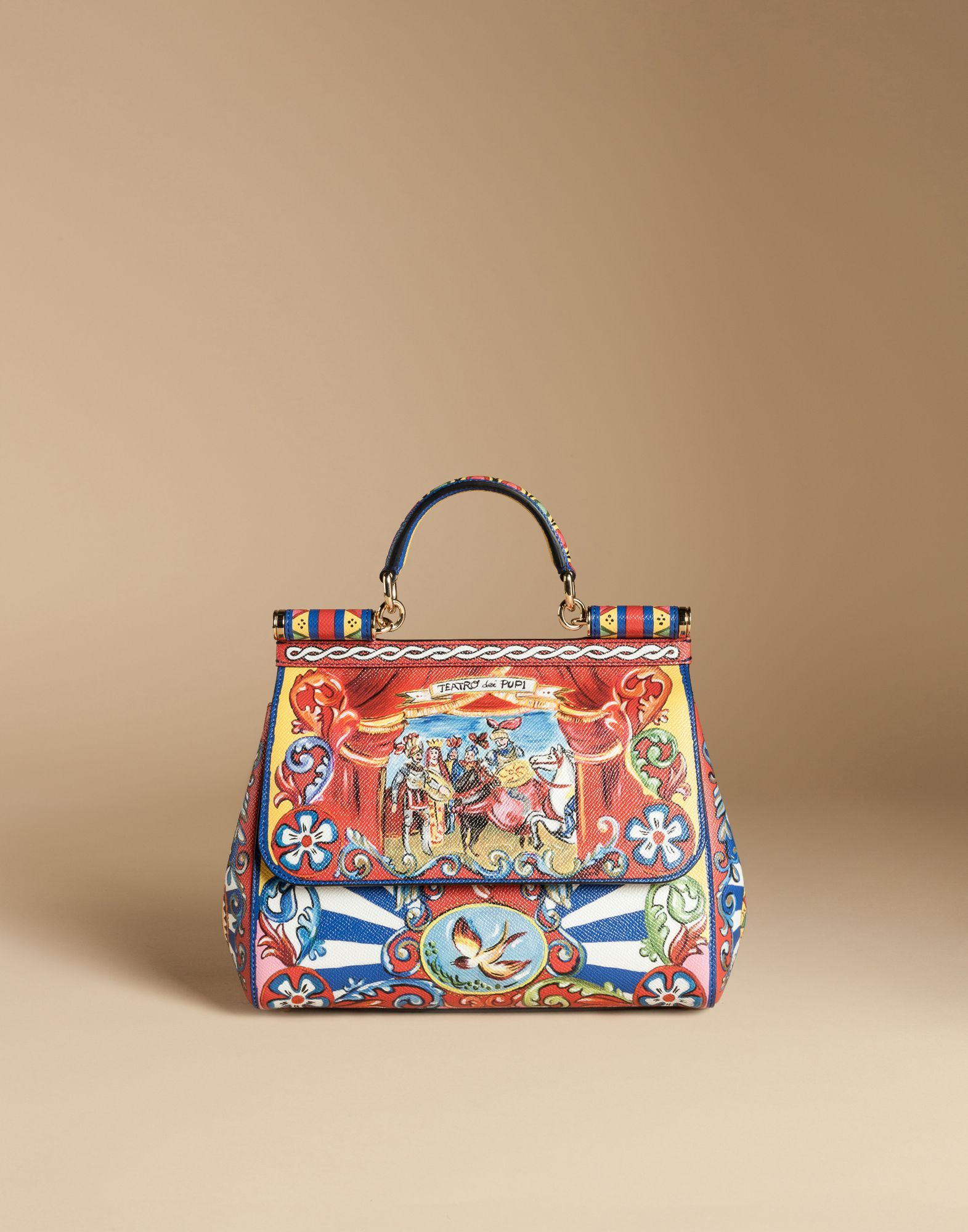 29956b41fd Medium sicily bag in printed dauphine leather