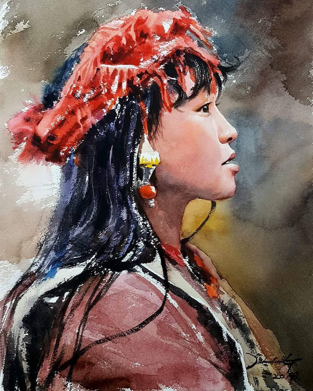 Watercolor By J Hunsung J Hunsung Watercolor Aquarelle Art Paint