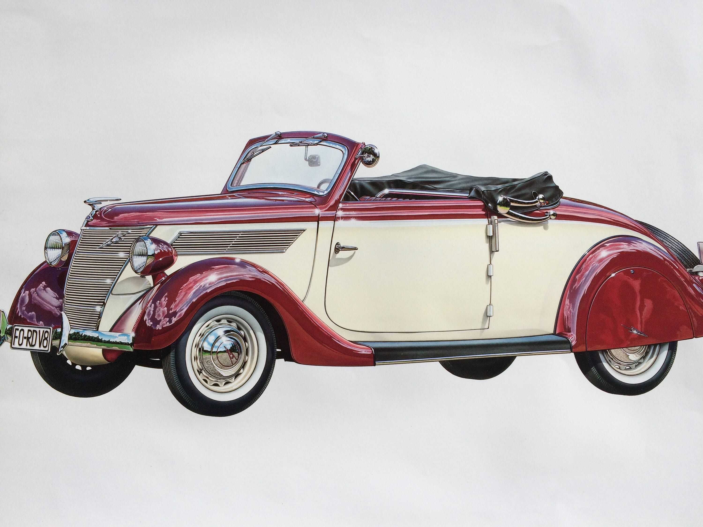 Large vintage classic ford car poster 1938 ford v8 automobile large vintage classic ford car poster 1938 ford v8 automobile motor car amipublicfo Images