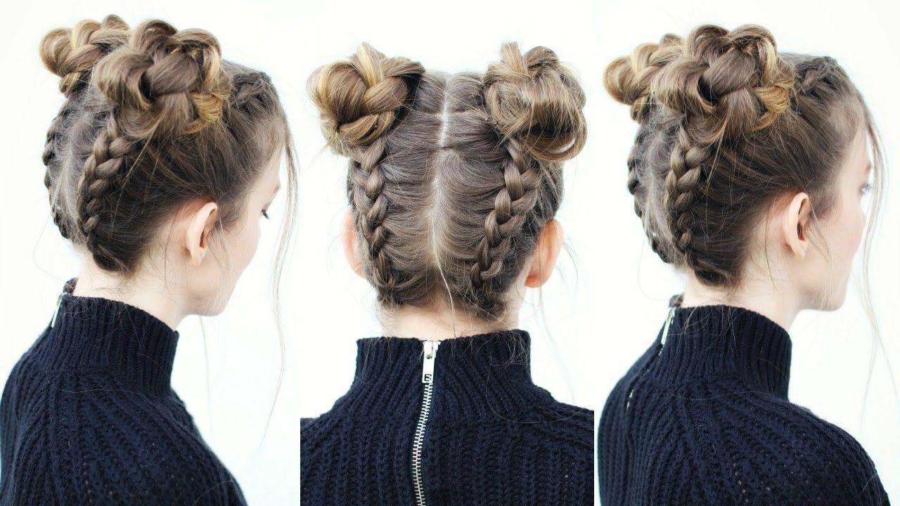 16 Super Cute Space Bun Hairstyles You Can Try This Year Braided Hairstyles Bun Hairstyles Braided Bun Hairstyles