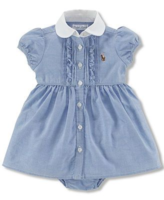 e2e6b4be04f9 Polo Ralph Lauren Baby Girls  Oxford Dress