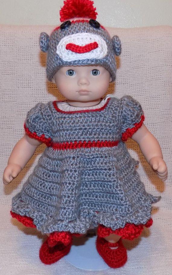 American Doll Bitty Baby Sock Monkey Outfit Crochet Pattern *PDF ...