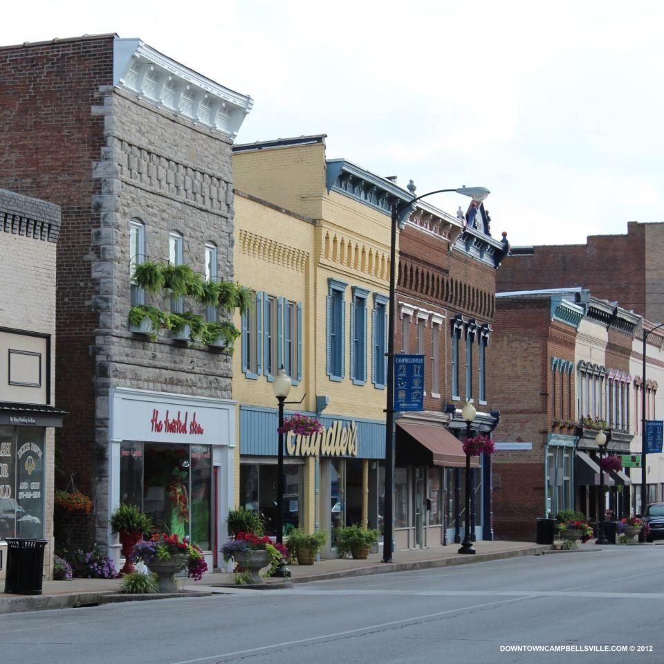 Downtown Campbellsville Campbellsville Kentucky Ky Town Building Brick Facade Retail Facade