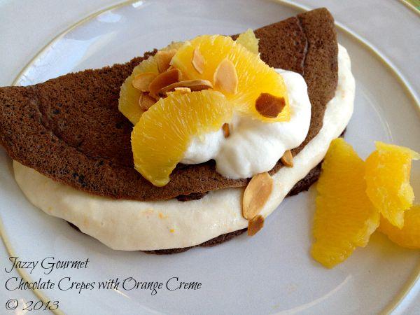 Chocolate Crepes with Orange Creme on MyRecipeMagic.com