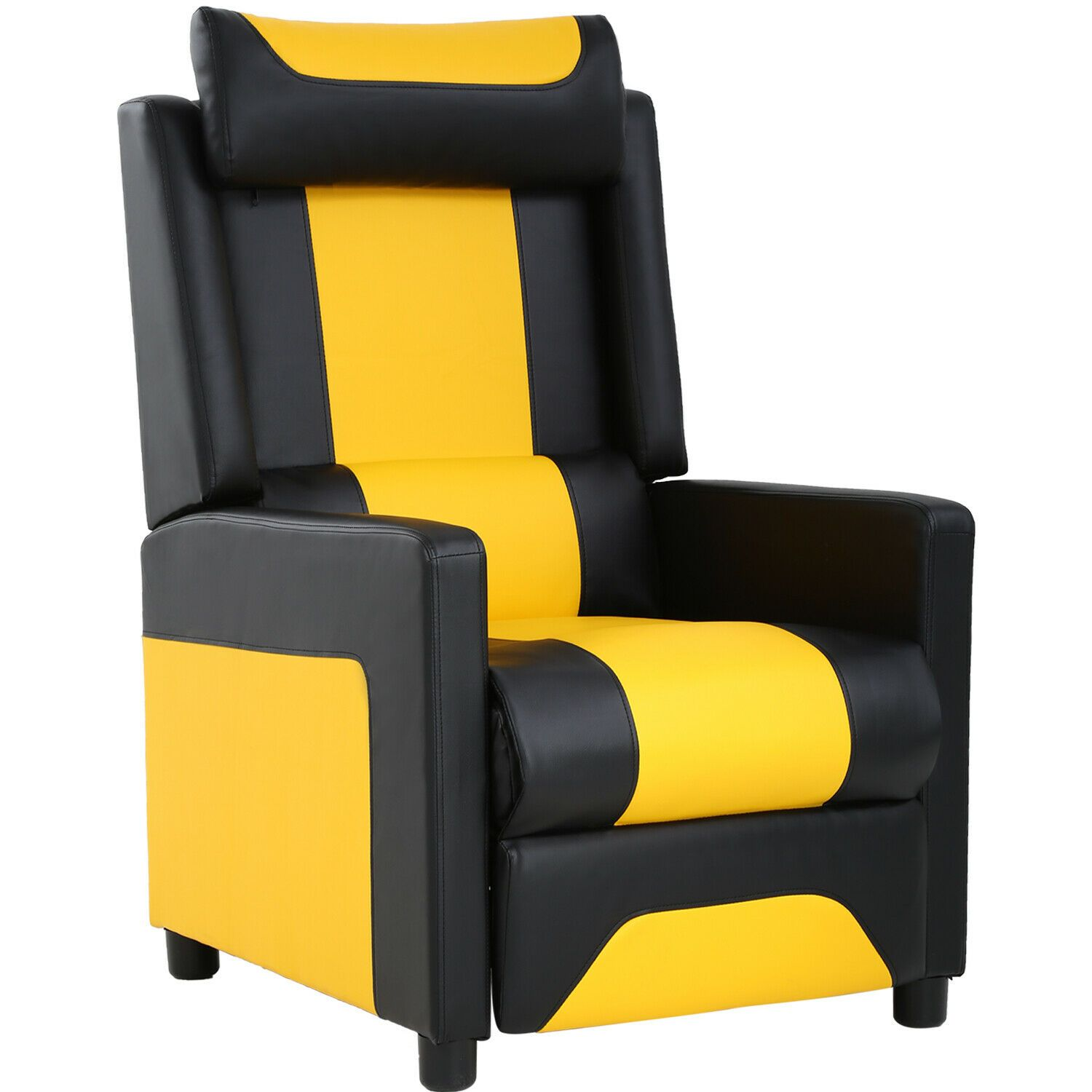 Pu Leather Recliner Chair Home Gaming Chair Easy Assemble Theater Reclining Sofa White Sofa Ideas Gaming Sofa Leather Living Room Furniture Reclining Sofa