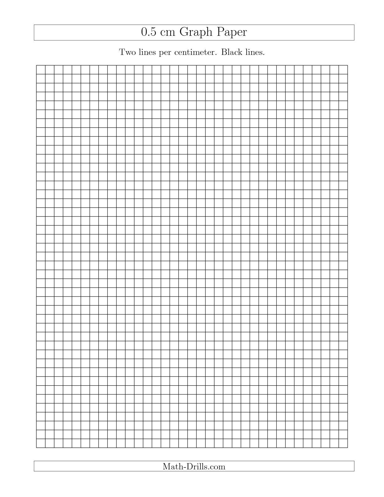 The 0 5 Cm Graph Paper With Black Lines A Math Worksheet