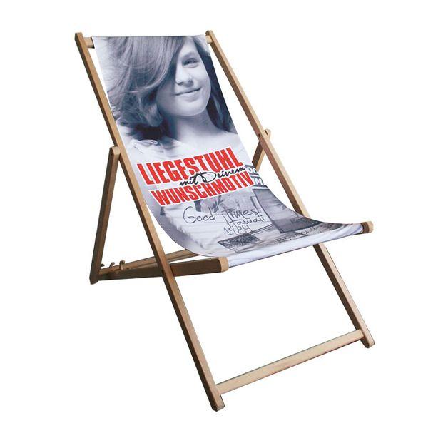 Gartenstuhle Liegestuhl Bedruckt Mit Eigenem Foto Motiv Ein