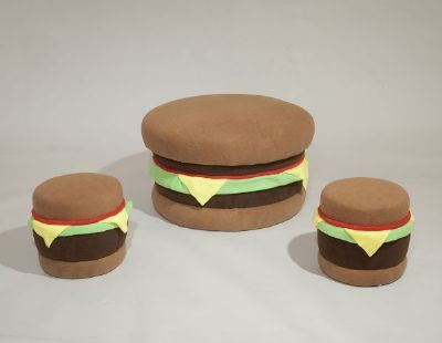Hamburger furniture set burgers burgers everywhere