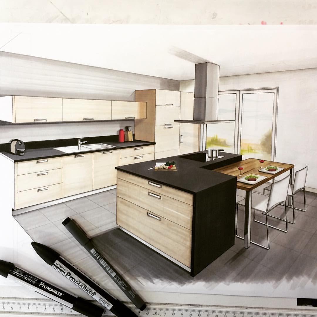 draw sketch salledebain handmade handsketch dessin promarker arquitatepage interior design architecture architecturestudent arquitetapage