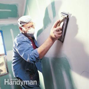 How To Sand Drywall Drywall Repair Drywall Drywall Installation