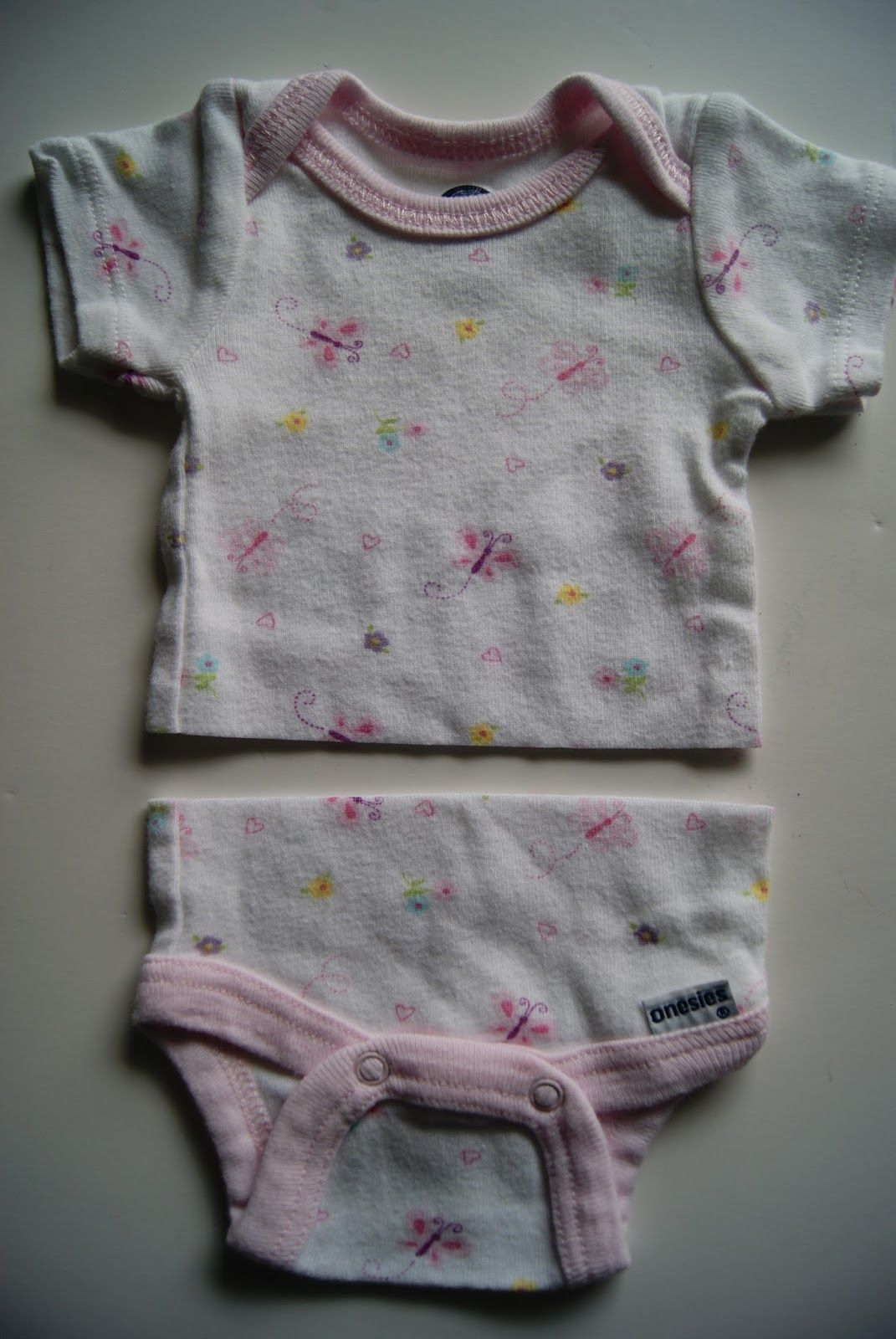 American Girl shirts out of newborn onsies #bedfalls62