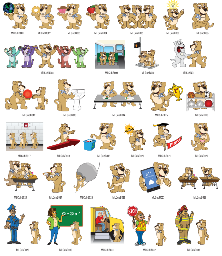 Mountain Lion Cub Mascot Clipart | School Mascot Clip Art ...