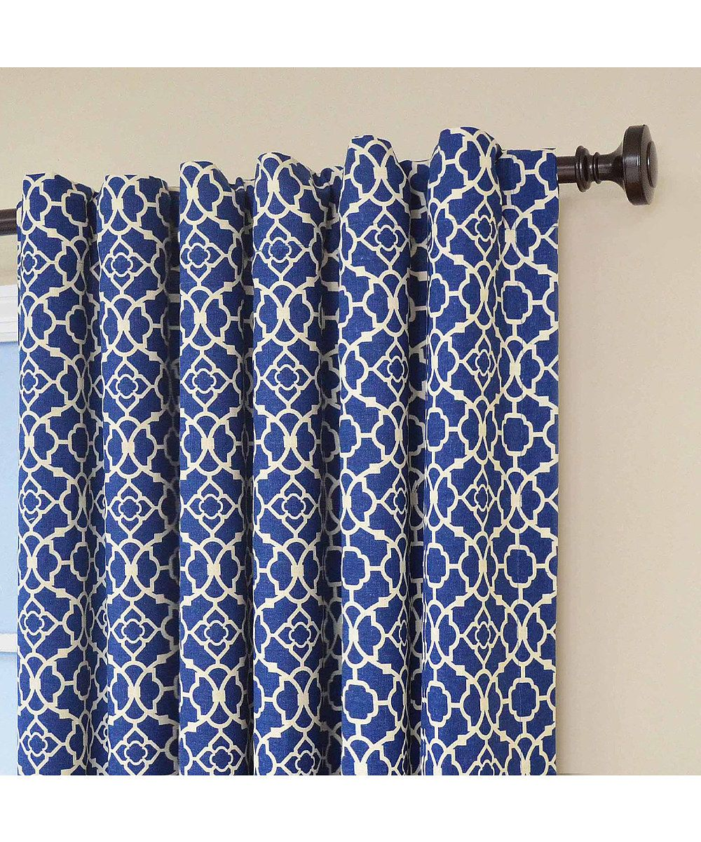 ordinary Waverly Lovely Lattice Curtain Part - 13: waverly curtains blue | Blue Waverly Lovely Lattice Curtain Panel