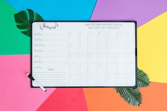 Family Reusable Calendar with Menu Planner
