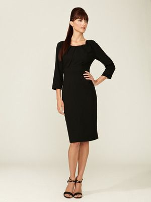 Carolina Herrera Wool Pleated Dress