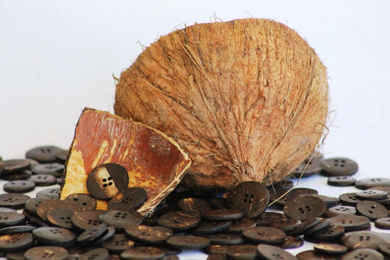 For the buttons on our blazers we use #Coconut shell