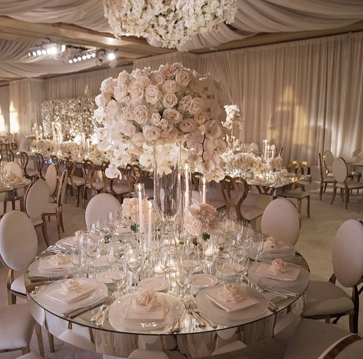 Elegant Wedding Reception Decoration: Wedding Hall Decorations, Wedding
