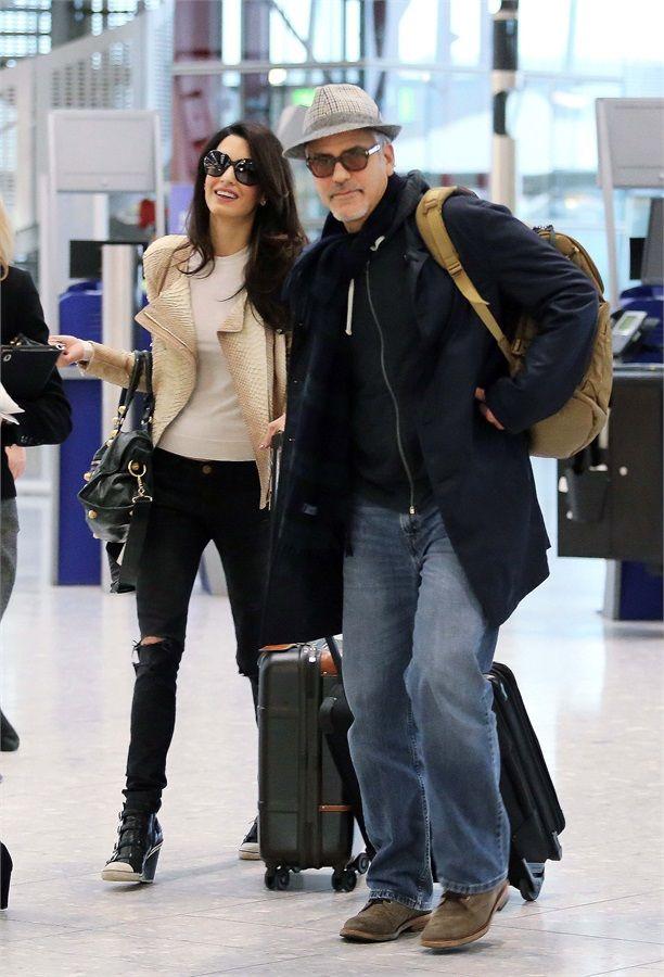George Clooney e Amal Alamuddin, sposi in volo - VanityFair.it