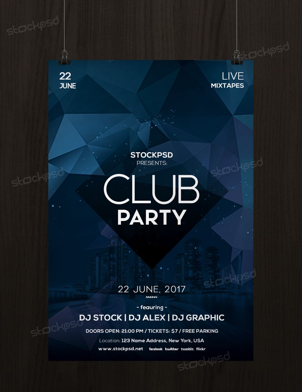 Club Party  Free Minimal Psd Flyer Template  Psd Flyers