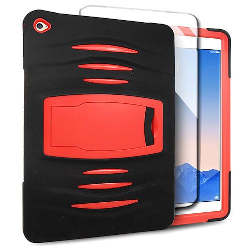 Black Red Cover Hybrid Hard Case For Ipad Air 2 Built In Screen Protector Unbrandedgeneric Ipad Air 2 Ipad Hulle