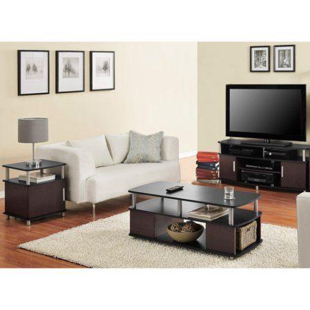 Carson 3 Piece Living Room Set Multiple Finishes Black