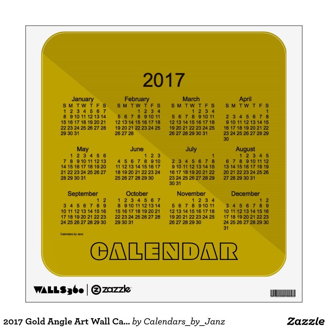 2017 Gold Angle Art Wall Calendar by Janz Wall Sticker | RYB ...