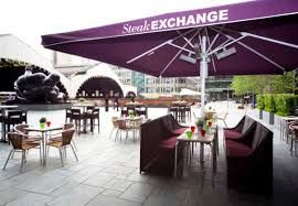 The Steak Exchange in London, Greater London Right in the heart of Exchange Square, the name says it all.  With a passion for good steak, this restaurant never compromises on quality.  Due to the area, they are great with large groups and while often busy, if you arrive on a quiet evening, it's a cosy restaurant for a romantic meal.