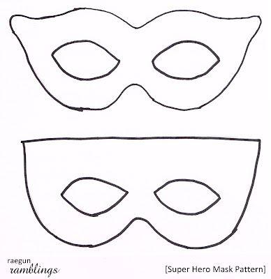 Superhero Mask Template Super Hero Mask Pattern And Tutorial