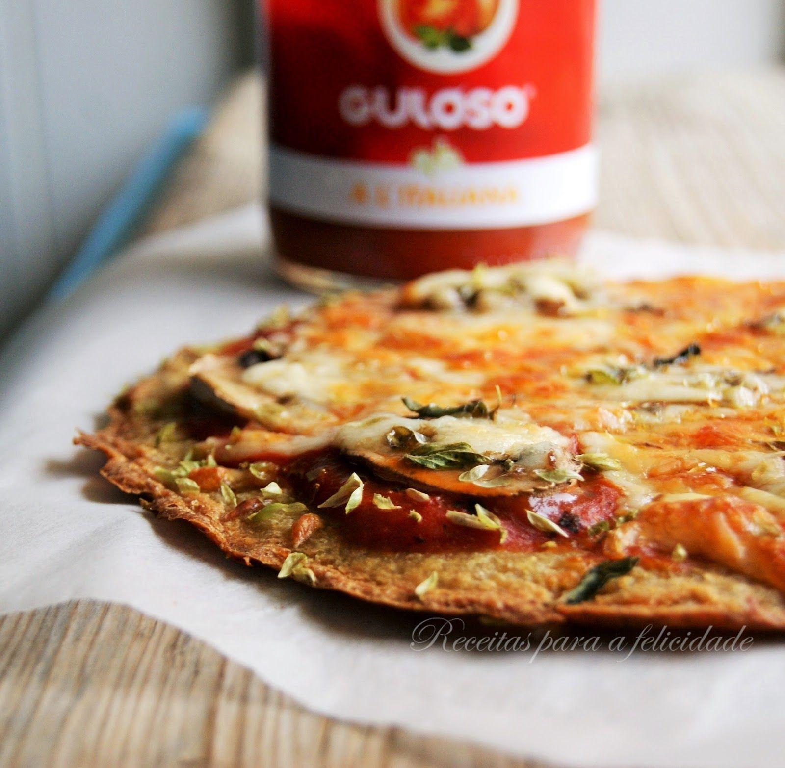 Receitas Para A Felicidade!: Pizza De Quinoa Com Tomate E