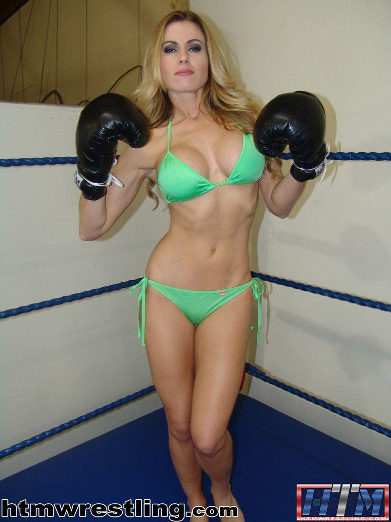 Boxing girls in bikinis