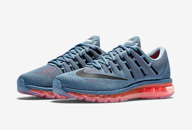 low priced 28390 76553 Air Max 2016 Nike Men Running Shoes Blue Grey