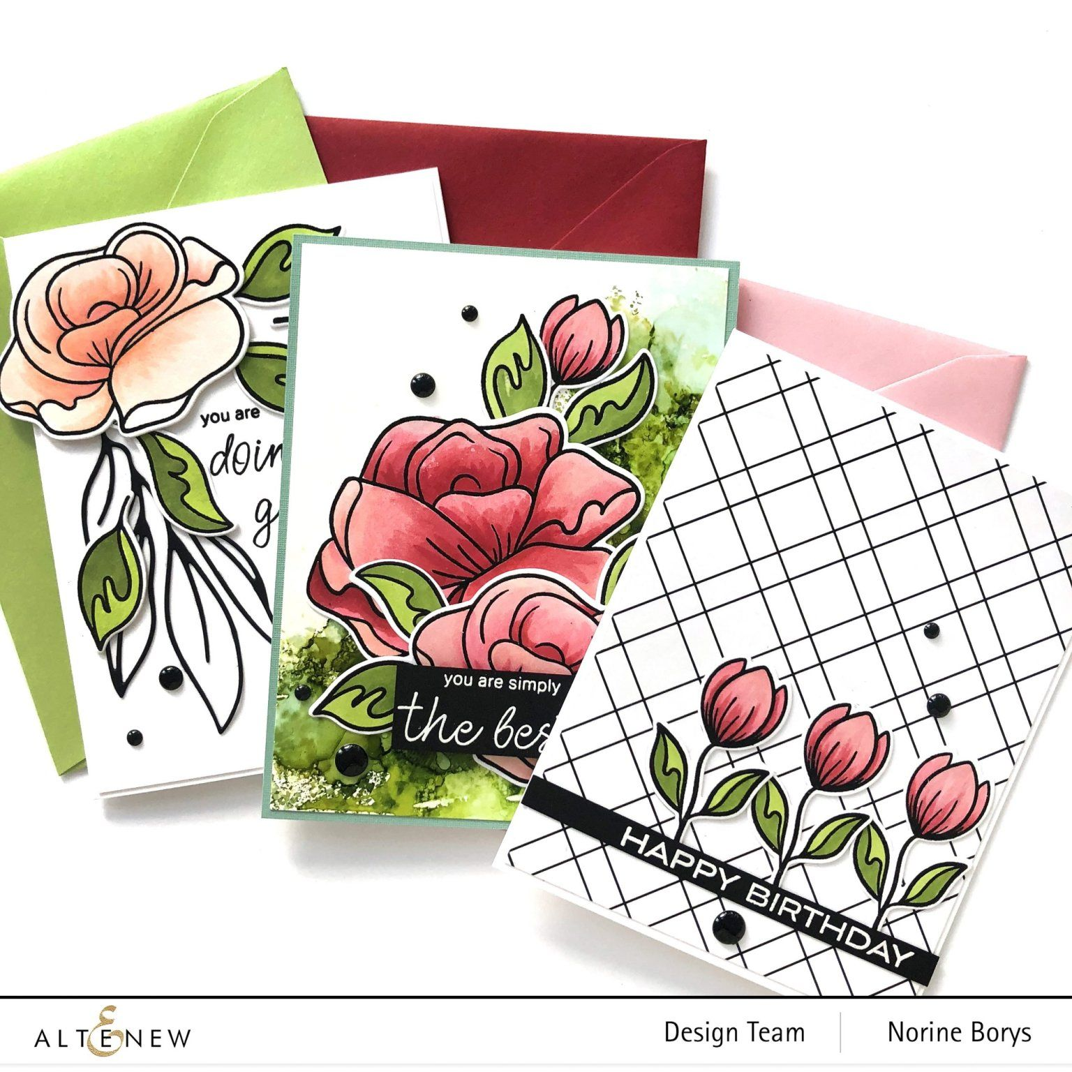 3 Beautiful Floral Card Making Styles Altenew Blog Floral Cards Card Sketches Templates Cards