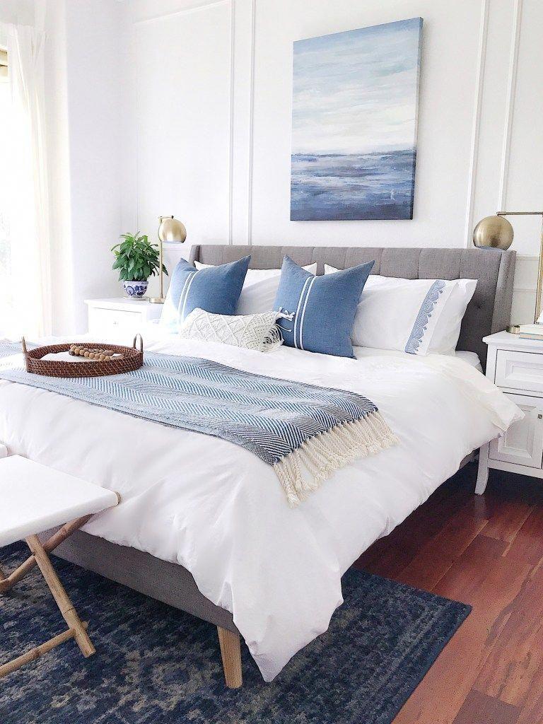 Modern coastal, scandinavian and modern farmhouse bedroom