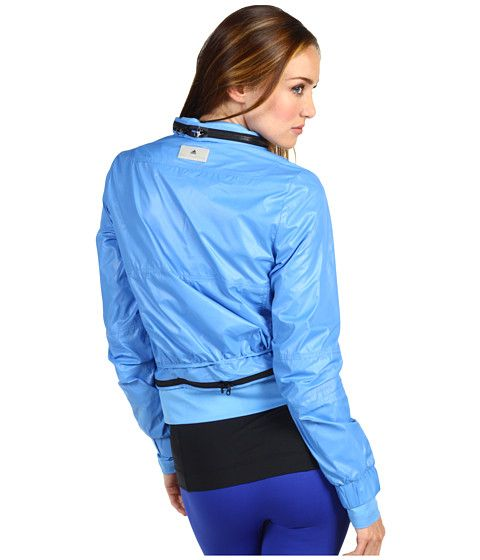 adidas by Stella McCartney Run Performance Jacket X51362 Superblue - Zappos Couture