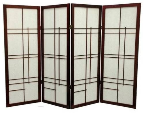 Asianstyle wall dividers offer privacy and gently diffused light