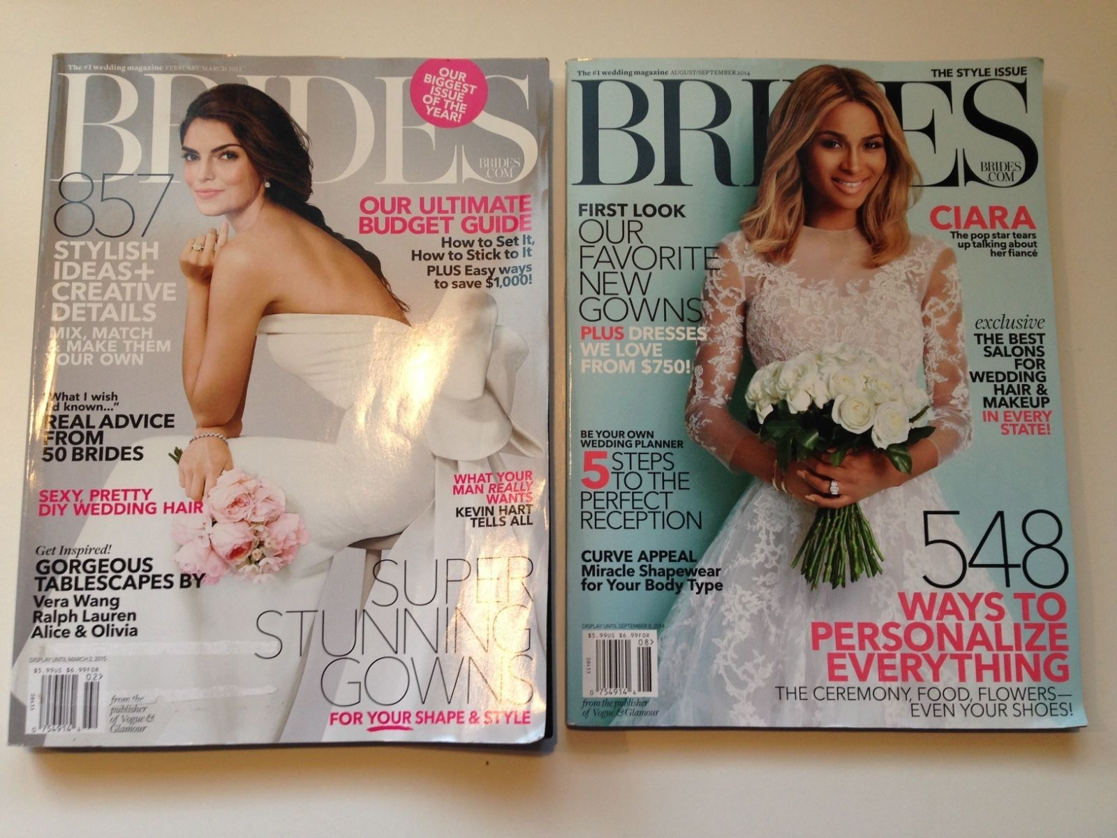 *2 Wedding Magazines* BRIDES August September 2014 & February March 2015