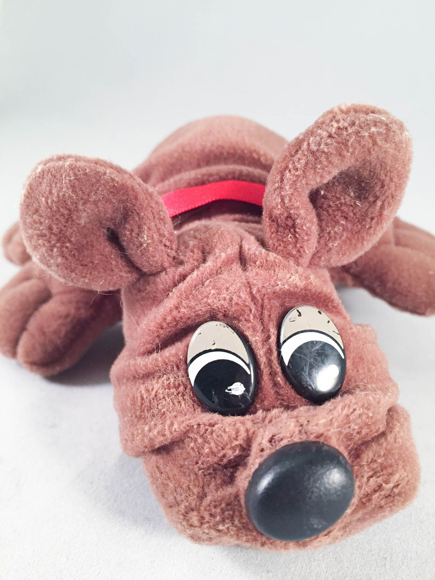 Pound Puppy Rumple Skins Small Brown With Red Collar Tonka Pound Puppies Puppies Red
