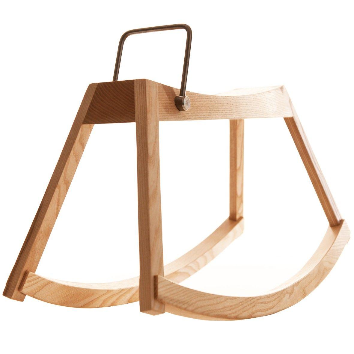 cheval bascule en bois sirch 150 wooden rocker childrens rocking horse kids furniture