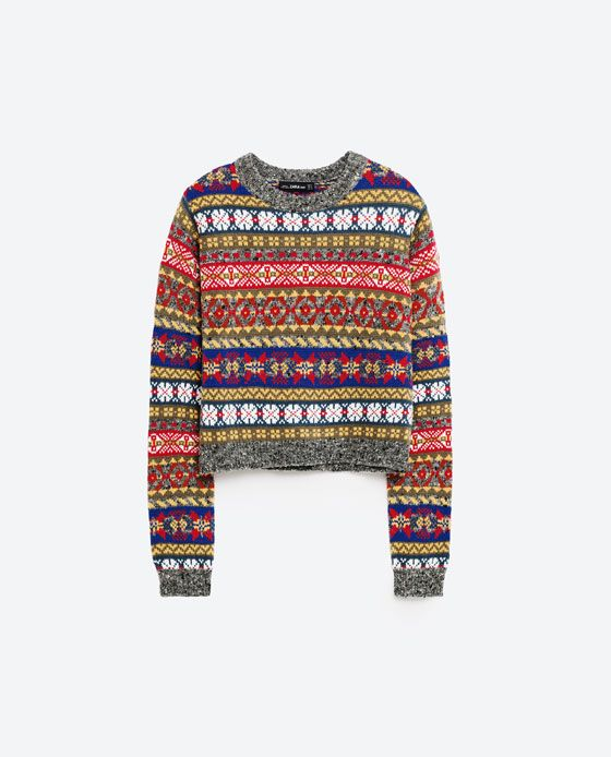 Image 8 of CROPPED JACQUARD SWEATER from Zara | Fashion Trends ...