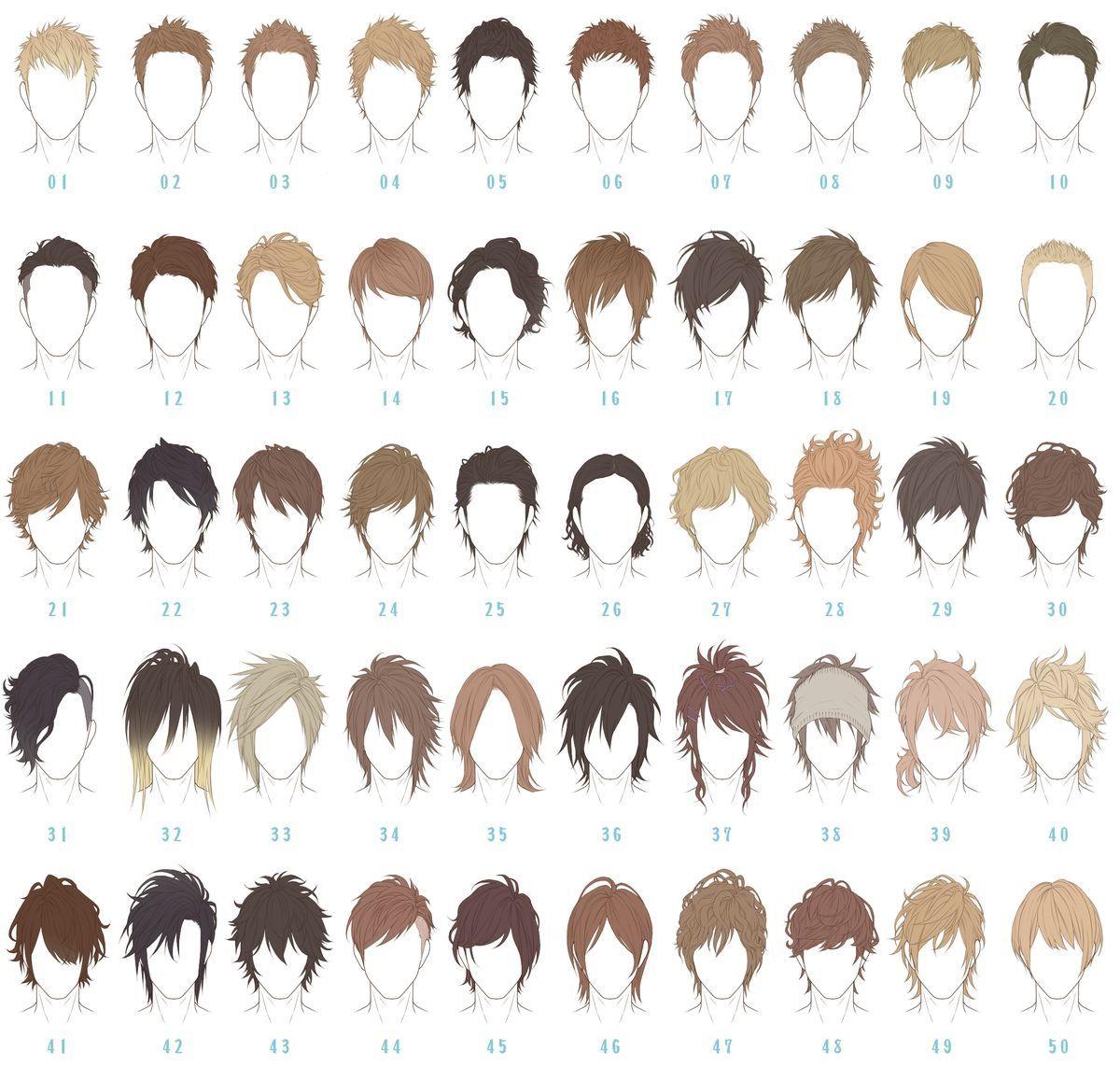 Drawing Short Hairs Anime Boy Hair Manga Hair Anime Hairstyles Male