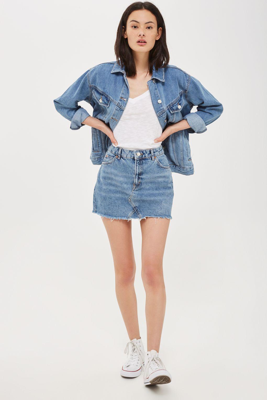 976d092960ed PETITE Denim Mini Skirt - Petite - Clothing - Topshop PETITE Denim Mini  Skirt Rock Band