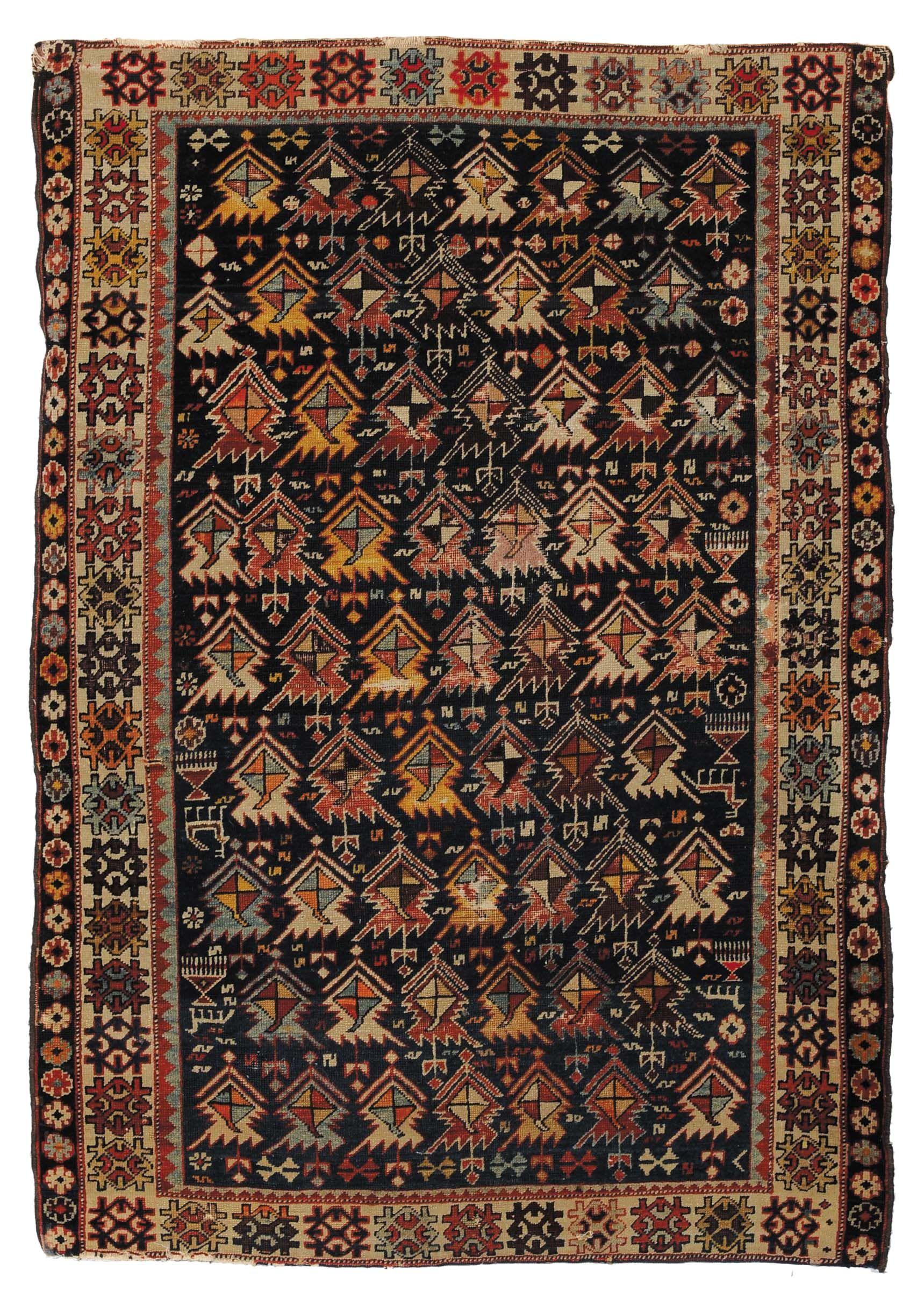 tappeti caucasici antichi Tappeto caucasico Shirvan, fine