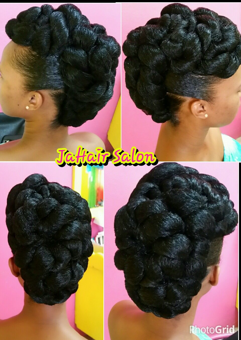 Pin By Sophia Roberson On Hairstyles Natural Hair Updo Braided Updo Styles Natural Hair Styles
